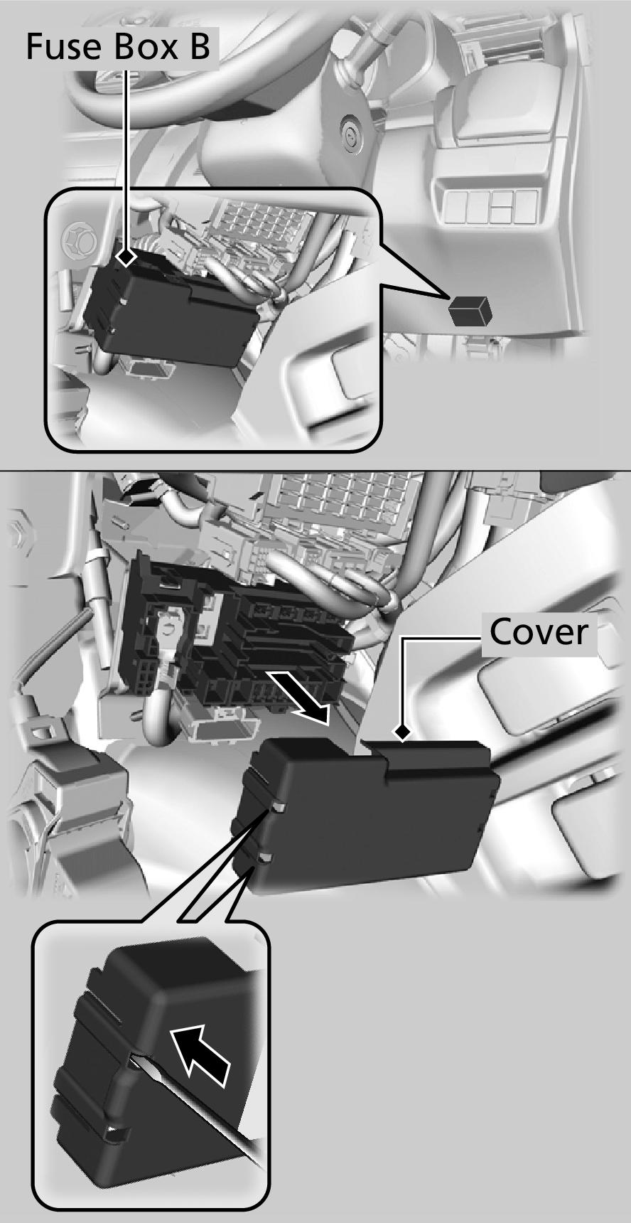 medium resolution of fuse box b remove