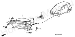 Каталог запчастей Хонда СРВ 2002 / 4AT / KN / RV-SI