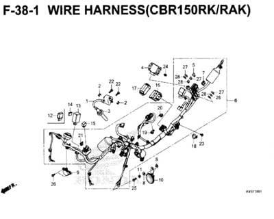 Katalog Suku Cadang Honda New CBR 150R K45N| Honda Cengkareng