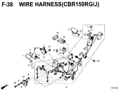 Katalog Suku Cadang Honda New CBR 150R K45N  Honda Cengkareng