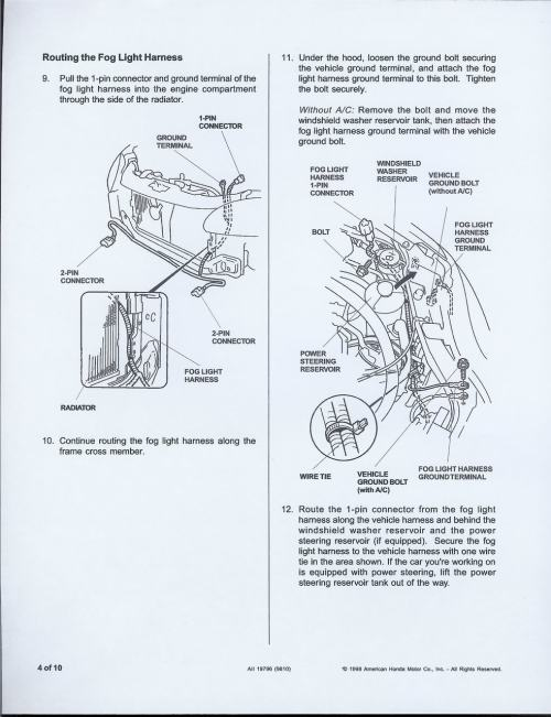 small resolution of 99 civic fog light wiring diagram