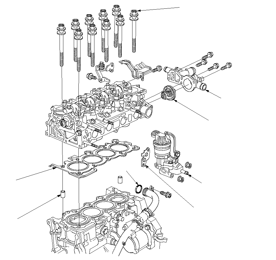 Cylinder Head Assembly Component Location Index (L12A/L13A)