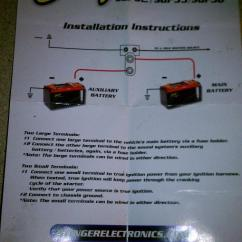 Wiring Diagram For Ignition Switch Pickleball Court How To Install A Dual Battery Set Up With Isolator - Honda Foreman Forums : Rubicon, Rincon ...