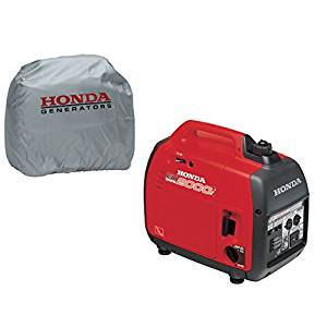 Honda EU2000i Super Quiet 2000W Generator with Inverter, Silver Storage Cover