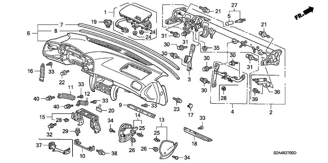 2002 Honda S2000 2 Door S2000 KA 6MT Instrument Panel
