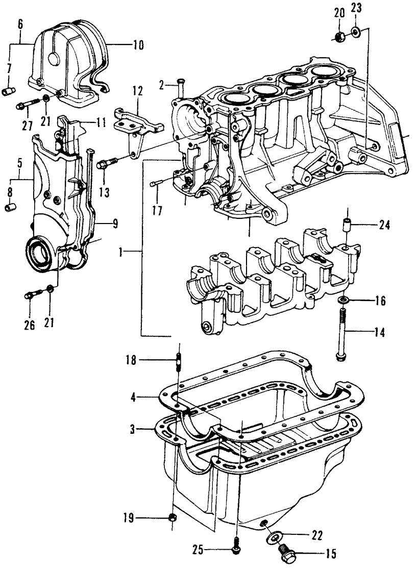 1973 Honda Civic 3 Door ** (1200) ** 4MT Cylinder Block