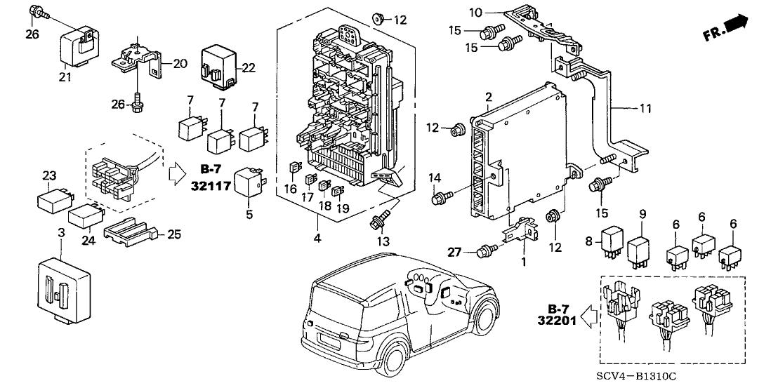 2006 Honda Element 5 Door LX (4WD ABS) KA 4AT Control Unit