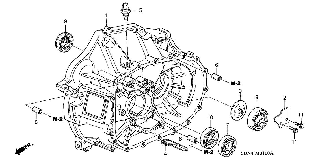2004 Honda Accord 2 Door EX KA 5MT MT Clutch Case (L4)