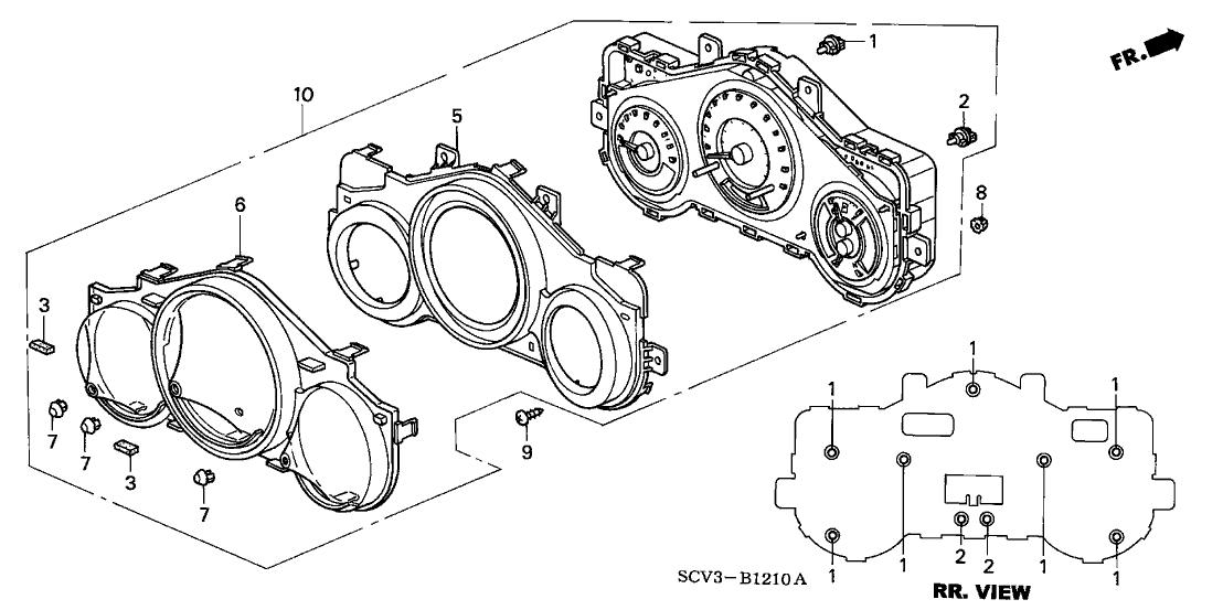 2003 Honda Element 5 Door DX (2WD) KA 4AT Meter Components