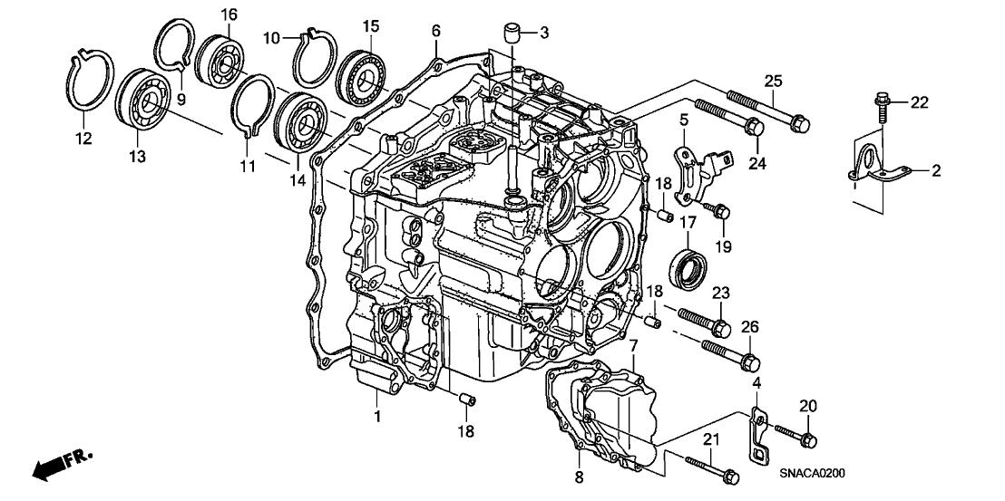 2010 Honda Civic 4 Door DX KA 5AT AT Transmission Case