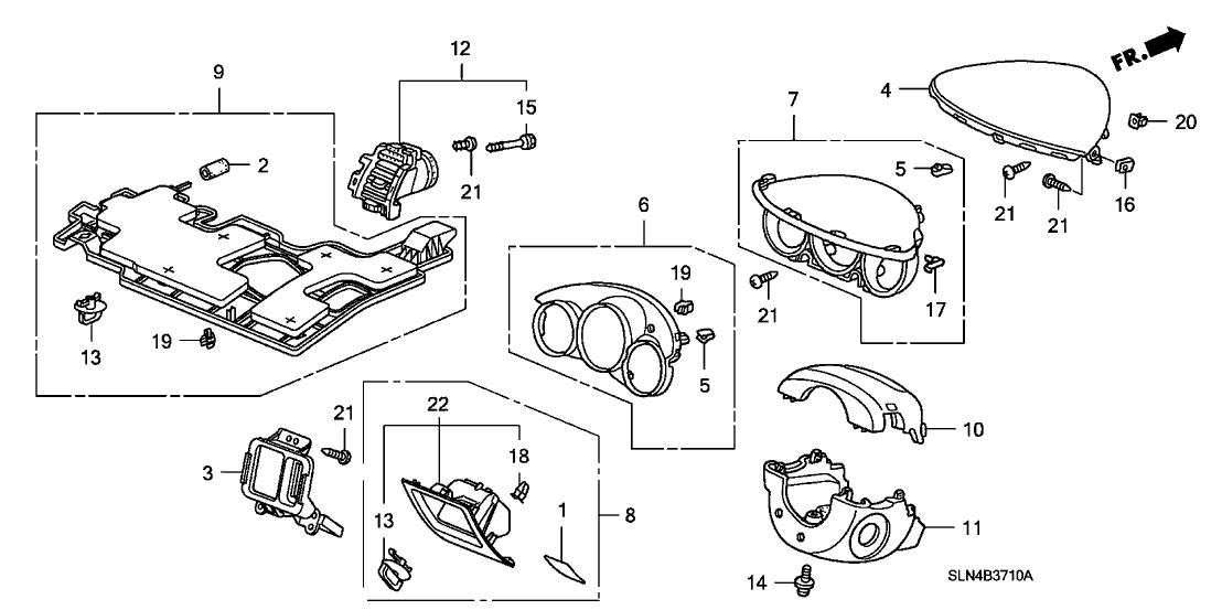 2007 Honda Fit 5 Door BASE KA 5AT Instrument Panel Garnish
