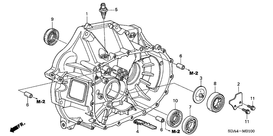 2003 Honda Accord 4 Door LX KA 5MT MT Clutch Case (L4)