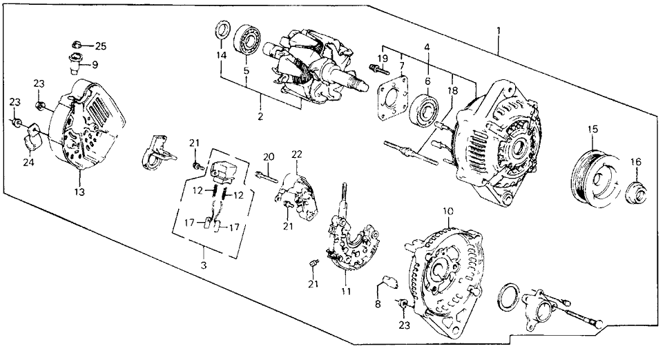 1989 Honda Civic 4 Door LX KA 5MT Alternator (Denso)
