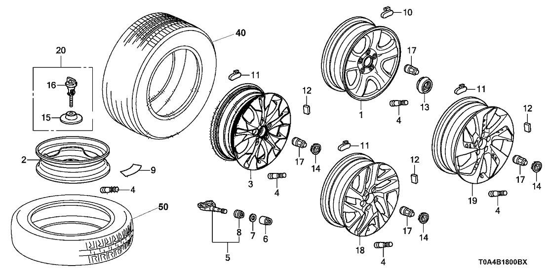 2016 Honda CR-V 5 Door EX (AWD HCM ENGINE) KA CVT Wheel Disk