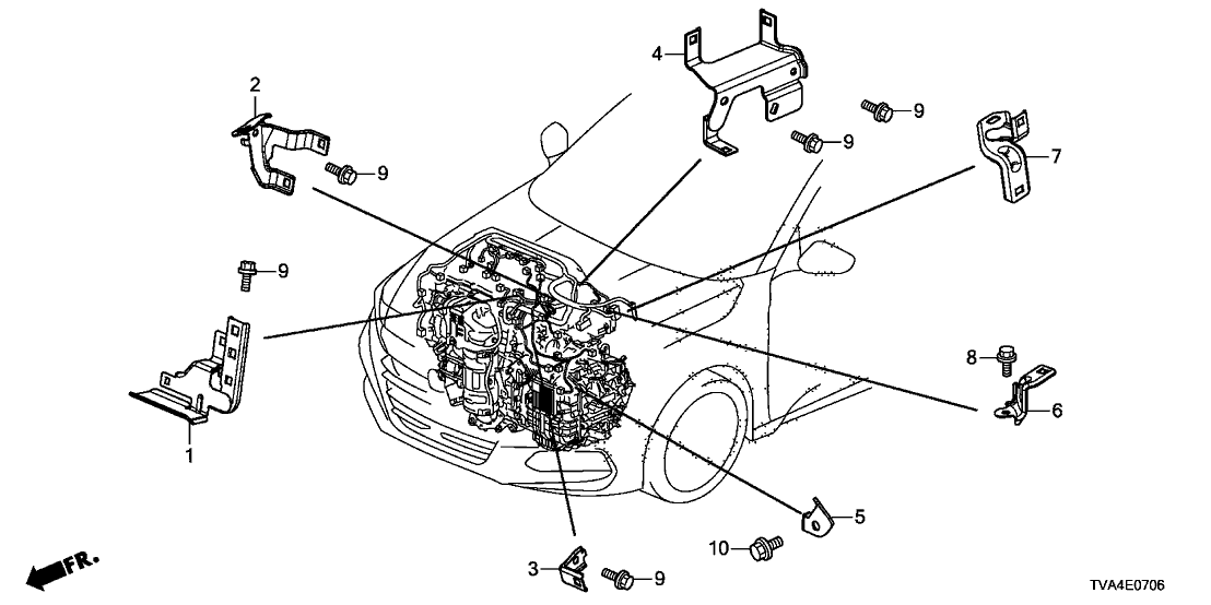 2019 Honda Accord 4 Door 20EX-L KA XAT Engine Wire Harness