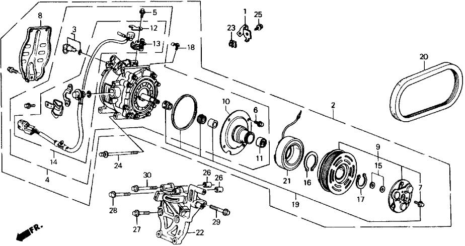 1991 Honda Prelude 2 Door 2.05SI (4WS) KA 5MT A/C
