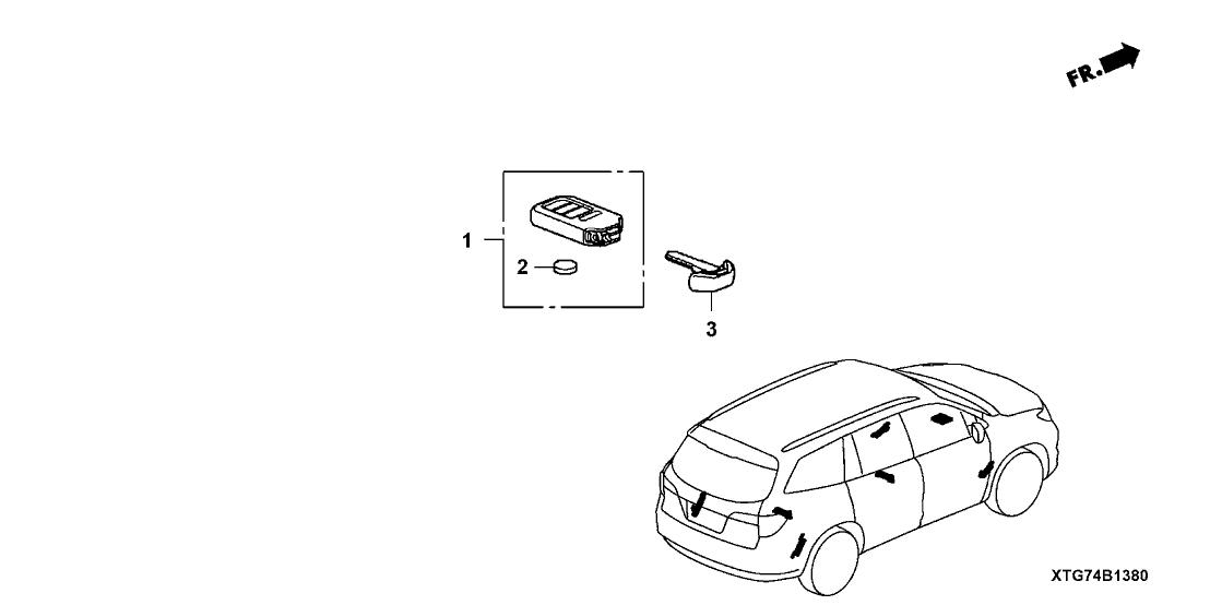 2016 Honda Pilot 5 Door LX (AWD) KA 6AT Remote Engine Starter