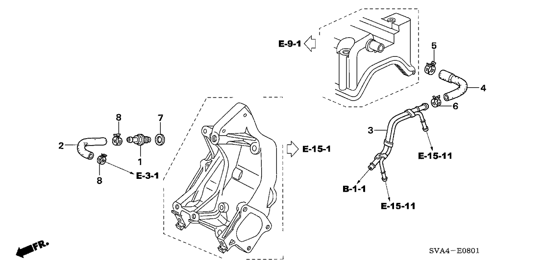 2007 Honda Civic 2 Door SI KA 6MT Breather Tube (2.0L)
