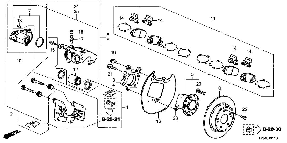 2016 Honda HR-V 5 Door EX (AWD) KA CVT Rear Brake (4WD)