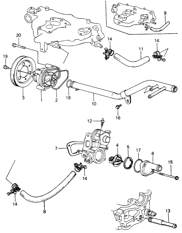 1982 Honda Civic 3 Door ** (1300) KA 4MT Water Pump