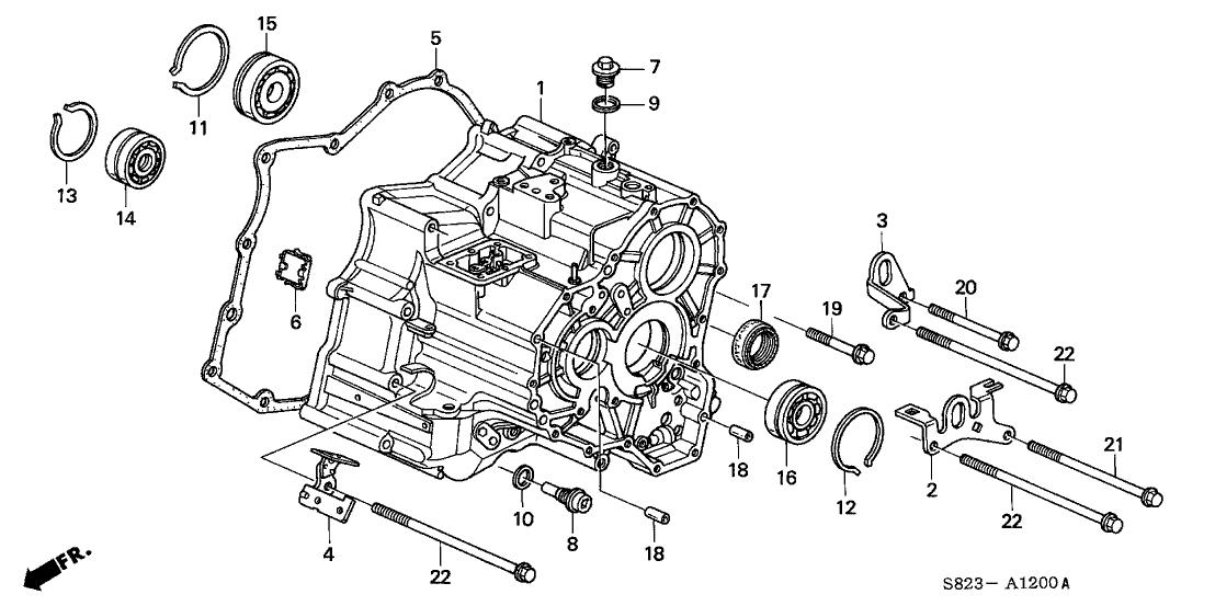 2000 Honda Accord 2 Door EX (V6) KA 4AT AT Transmission