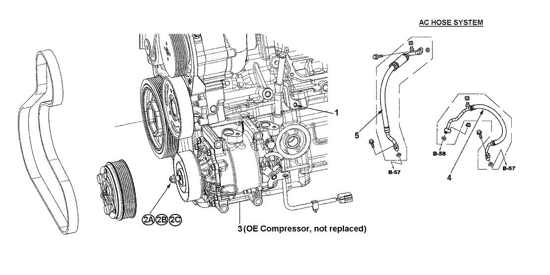 2014 Honda CR-Z 3 Door EX KA 6MT HPD- AC Hose System
