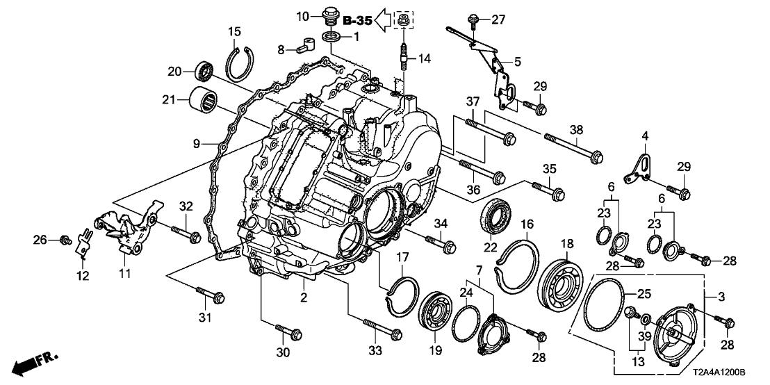 2013 Honda Accord 4 Door EXL-V6 KA 6AT AT Transmission