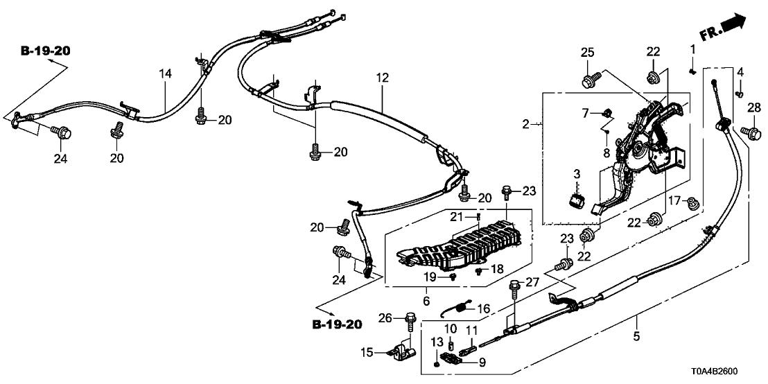 2015 Honda CR-V 5 Door LX (2WD) KA CVT Parking Brake