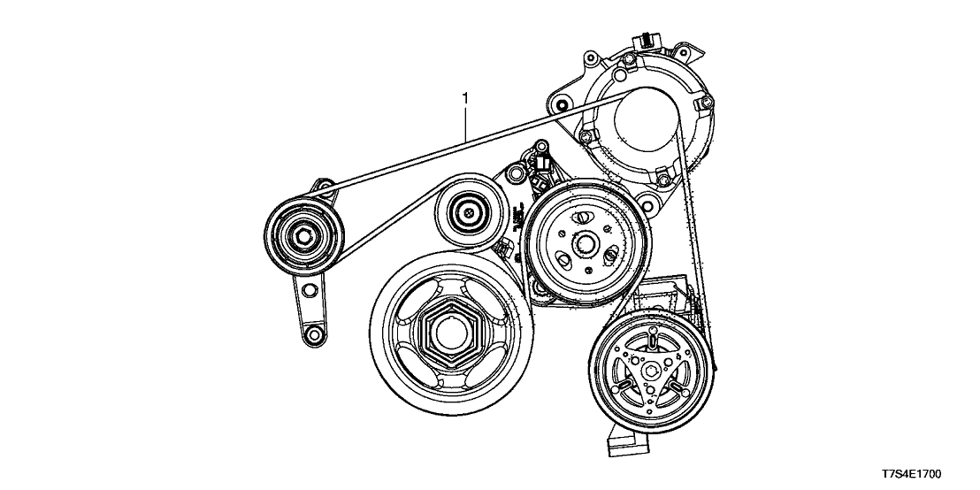 2016 Honda HR-V 5 Door LX (AWD) KA CVT Alternator Belt