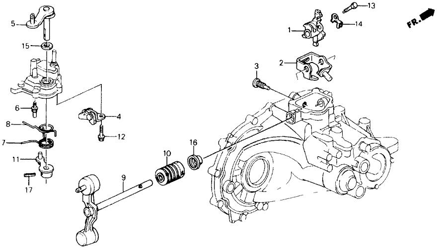 1991 Honda Prelude 2 Door 2.05SI (4WS) KA 5MT MT Shift Arm