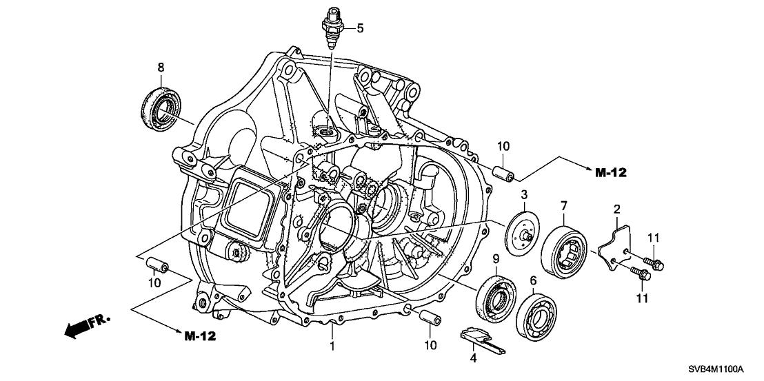 2010 Honda Civic 2 Door SI KA 6MT MT Clutch Case (2.0L)