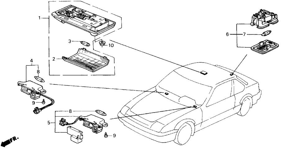 1988 Honda Prelude 2 Door 2.0SI (4WS) KA 5MT Interior Light