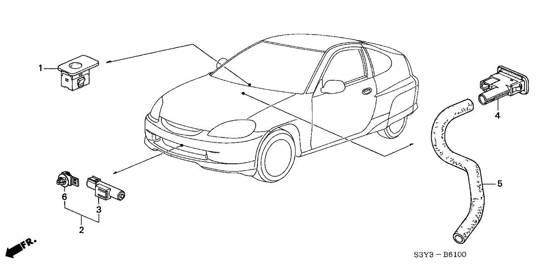 2001 Honda Insight 3 Door DX (A/C) KA 5MT Sensor