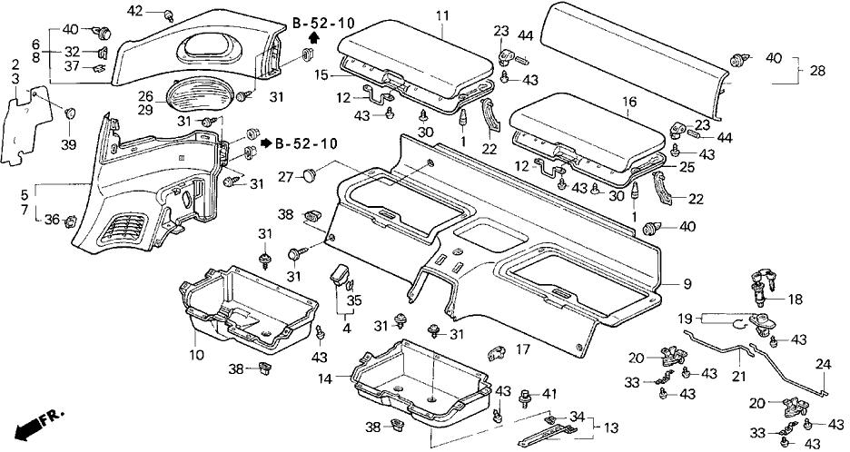 1993 Honda Del Sol 2 Door SI KA 5MT Personal Trunk