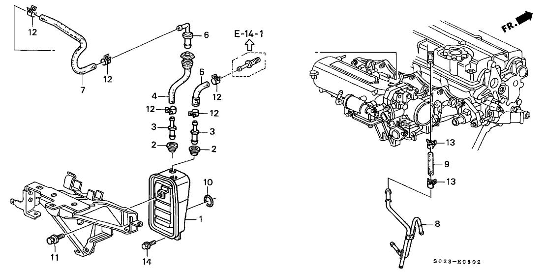 1999 Honda Civic 2 Door SI KA 5MT Breather Chamber (DOHC VTEC)