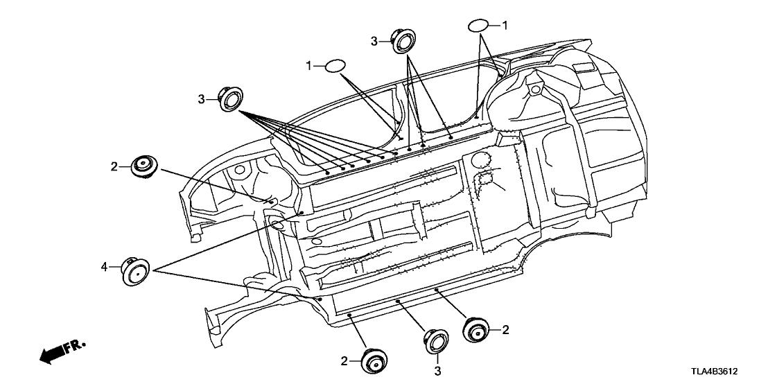 2019 Honda CR-V 5 Door 24LX (2WD/E.LIBERTY) KA CVT Grommet