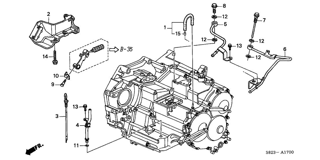 1998 Honda Accord 2 Door EX (V6) KA 4AT AT Oil Level Gauge