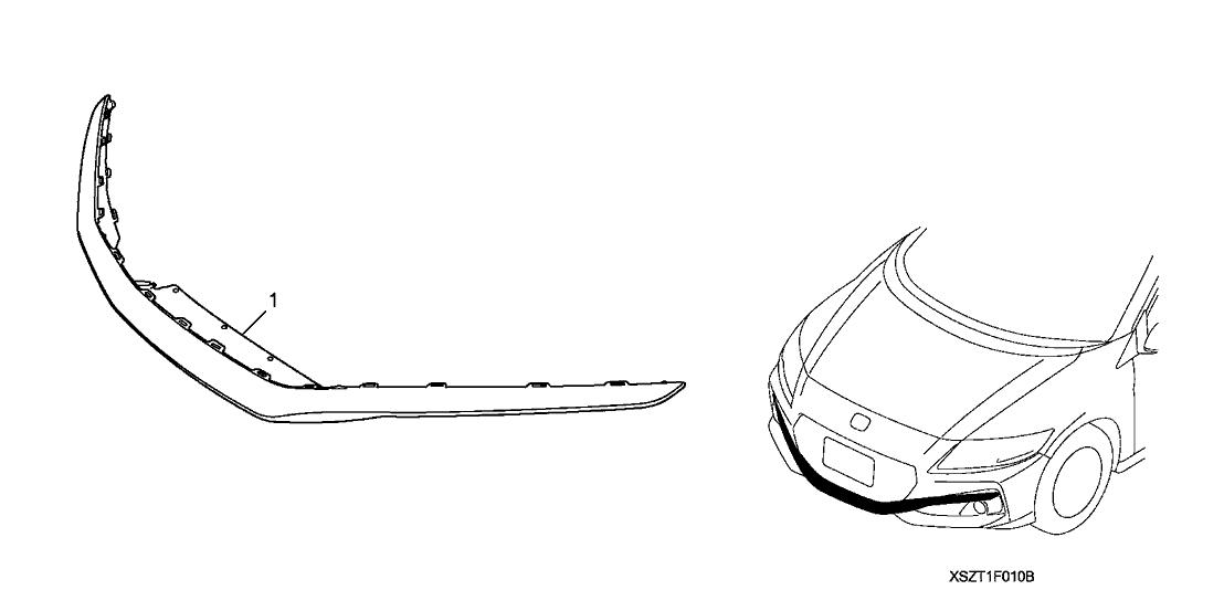 2016 Honda CR-Z 3 Door EX-L (NAVIGATION) KA 6MT Front