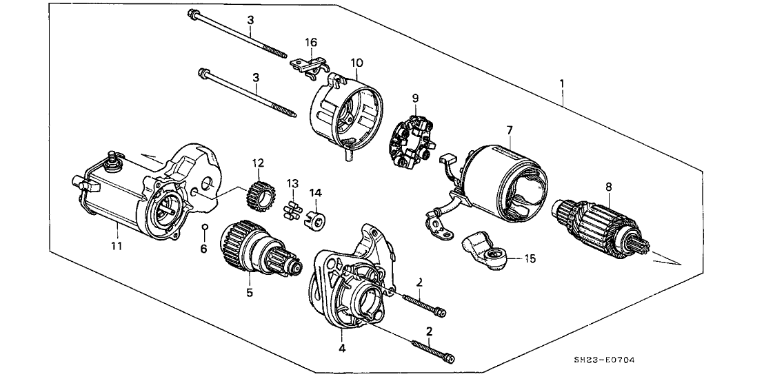 1991 Honda CRX 2 Door SI KA 5MT Starter Motor (Denso)