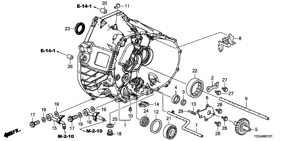 2020 Honda Civic 5 Door TYPE R KA 6MT MT Clutch Case
