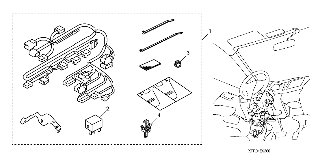 2012 Honda Civic 4 Door LX KA 5AT Engine Remote Starter
