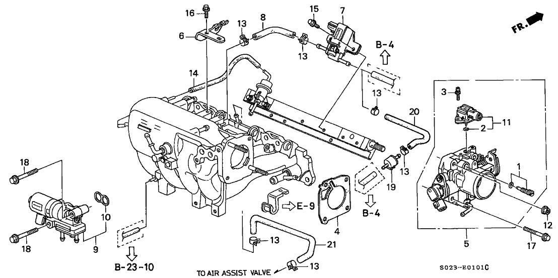 1998 Honda Civic 2 Door EX KW 5MT Throttle Body (VTEC) (MT)