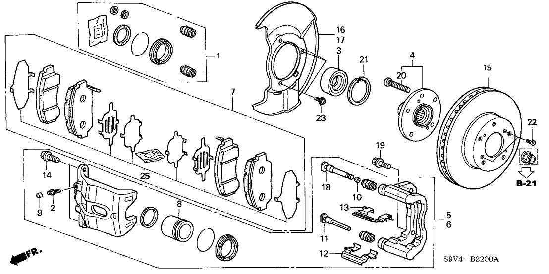 2006 Honda Pilot 5 Door EX (4WD) KA 5AT Front Brake