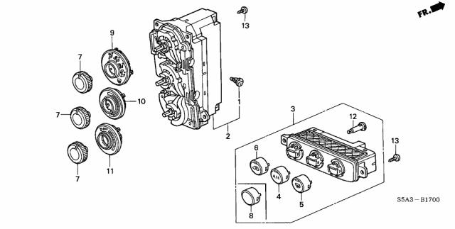2003 Honda Civic 2 Door LX KA 5MT Heater Control