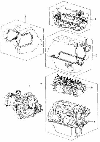 1980 Honda Civic 3 Door ** (1500) KA 4MT Gasket Kit