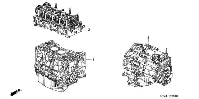 2005 Honda Element 5 Door EX (4WD SD A/B) KA 4AT Engine