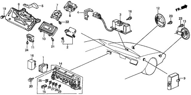1988 Honda Prelude 2 Door 2.0SI (4WS) KA 5MT Controller