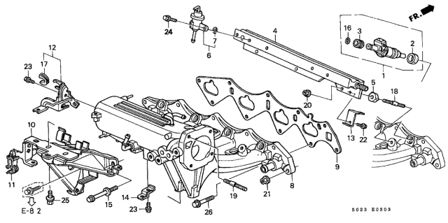 1999 Honda Civic 2 Door SI KA 5MT Intake Manifold (DOHC VTEC)