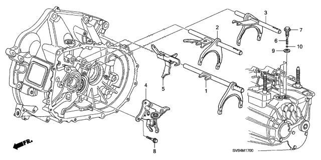 2010 Honda Civic 2 Door SI KA 6MT MT Shift Fork (2.0L)