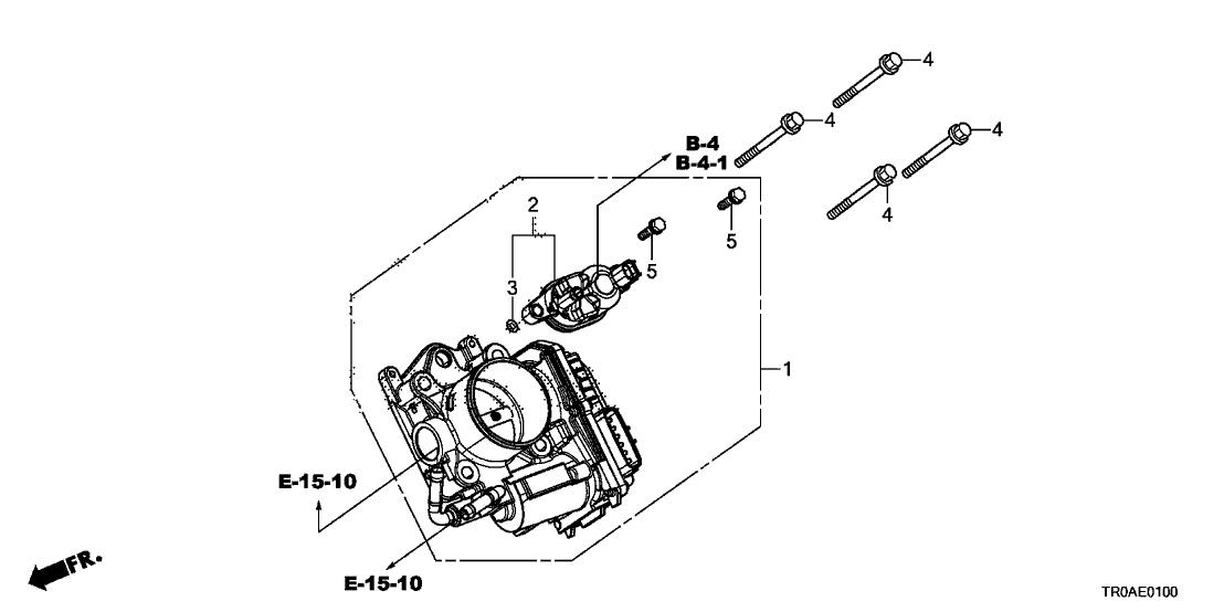 2013 Honda Civic 4 Door LX KA 5AT Throttle Body (1.8L)